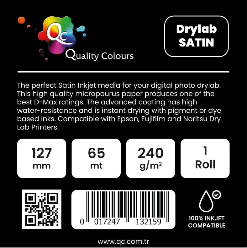 QC - Noritsu Green Rulo Fotoğraf Kağıdı 240gr Satin 127mm 65mt - Qc