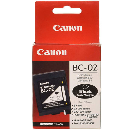 Canon BC-02 Black Siyah Orijinal Mürekkep Kartuş
