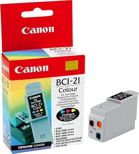 Canon BCI-21C 3 Color 3 Renk Orijinal Mürekkep Kartuş