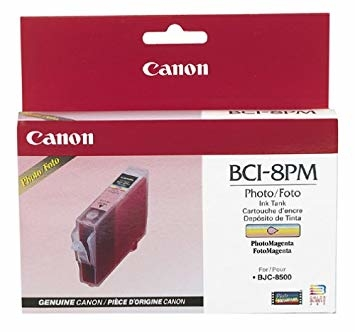 Canon BCI-8PM Photo Magenta Foto Kırmızı Orijinal Mürekkep Kartuş