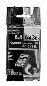 Canon BJI-643BK Black Siyah Orijinal Mürekkep Kartuş