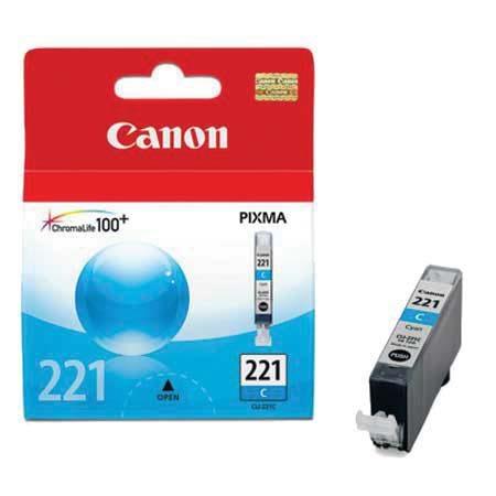 Canon CLI-221 C Cyan Mavi Orijinal Mürekkep Kartuş