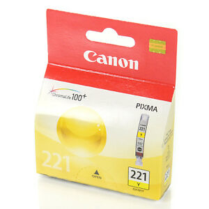 Canon CLI-221 Y Yellow Sarı Orijinal Mürekkep Kartuş