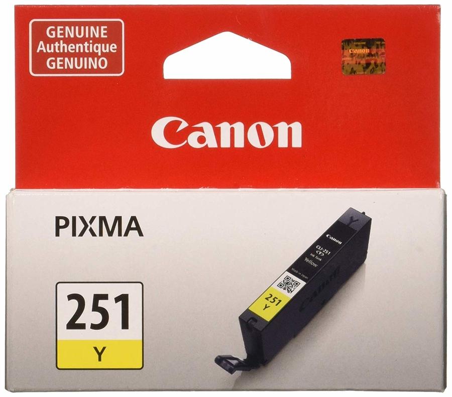 Canon CLI-251 Y Yellow Sarı Orijinal Mürekkep Kartuş