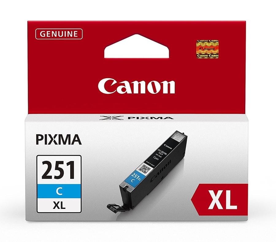 Canon CLI-251XL C Cyan Mavi Orijinal Mürekkep Kartuş
