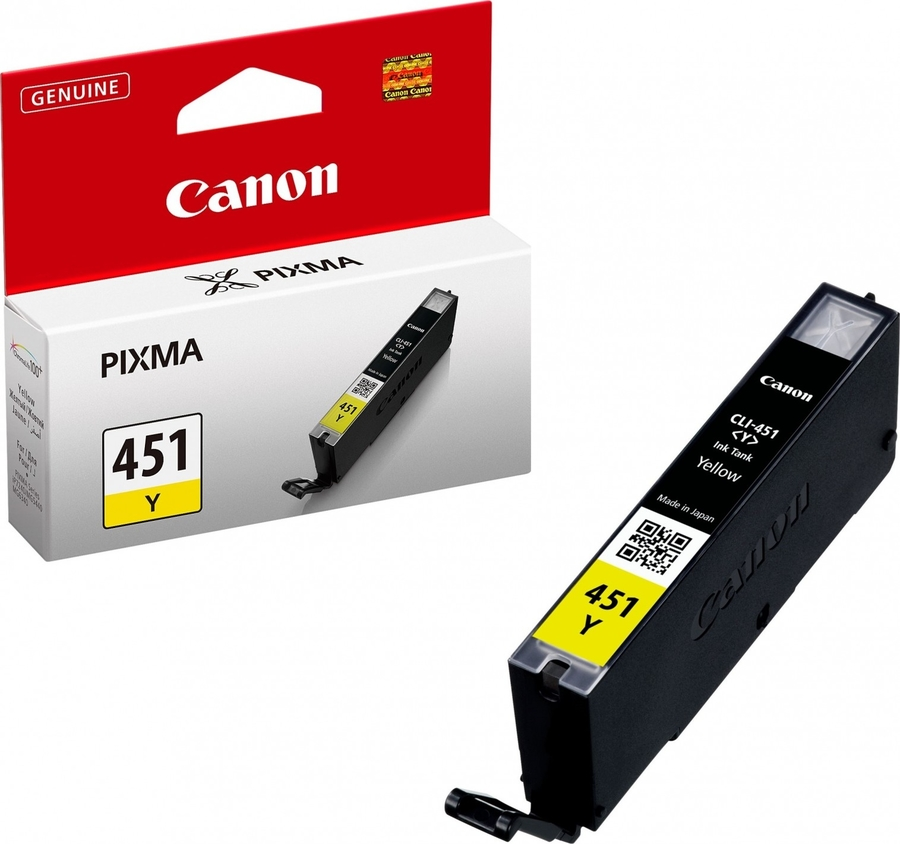 Canon CLI-451 Y Yellow Sarı Orijinal Mürekkep Kartuş