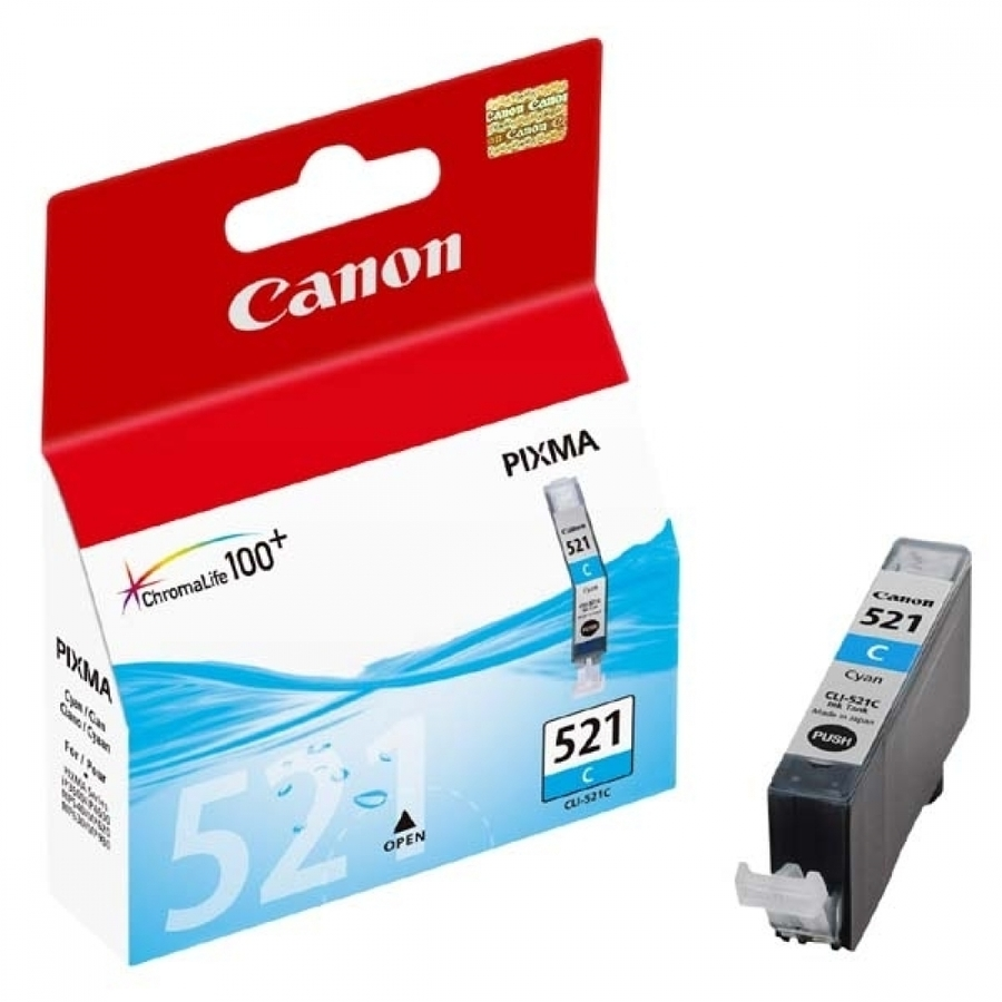 Canon CLI-521 C Cyan Mavi Orijinal Mürekkep Kartuş