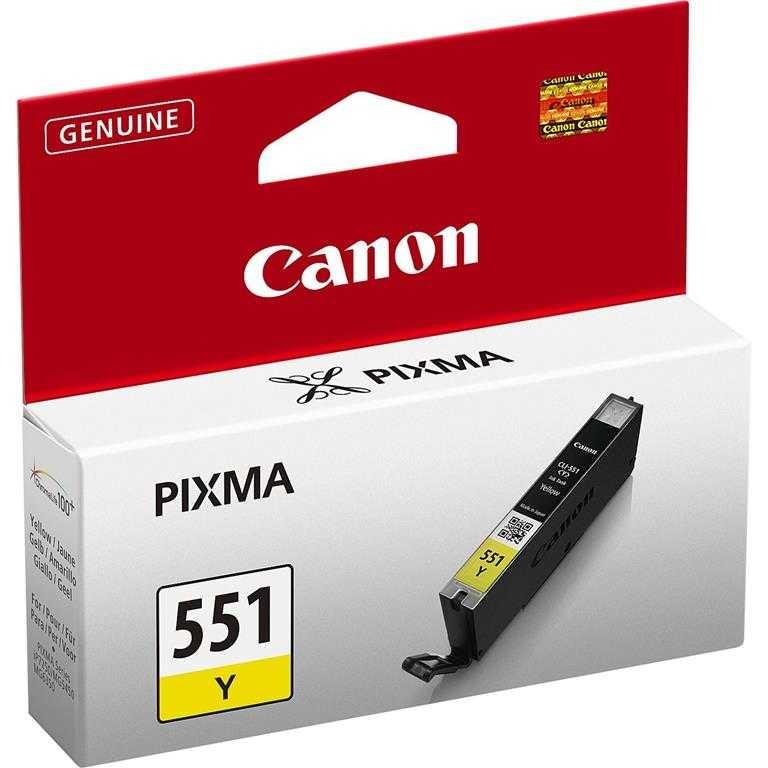 Canon CLI-551 Y Yellow Sarı Orijinal Mürekkep Kartuş