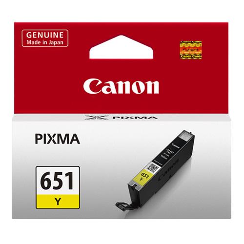 Canon CLI-651 Y Yellow Sarı Orijinal Mürekkep Kartuş