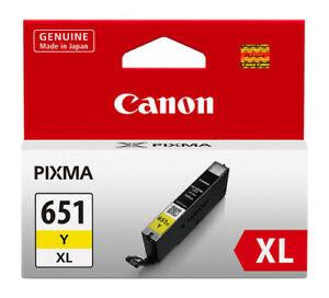 Canon CLI-651XL Y Yellow Sarı Orijinal Mürekkep Kartuş