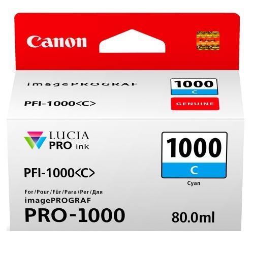 Canon PFI-1000 C Cyan Mavi Orijinal Mürekkep Kartuş