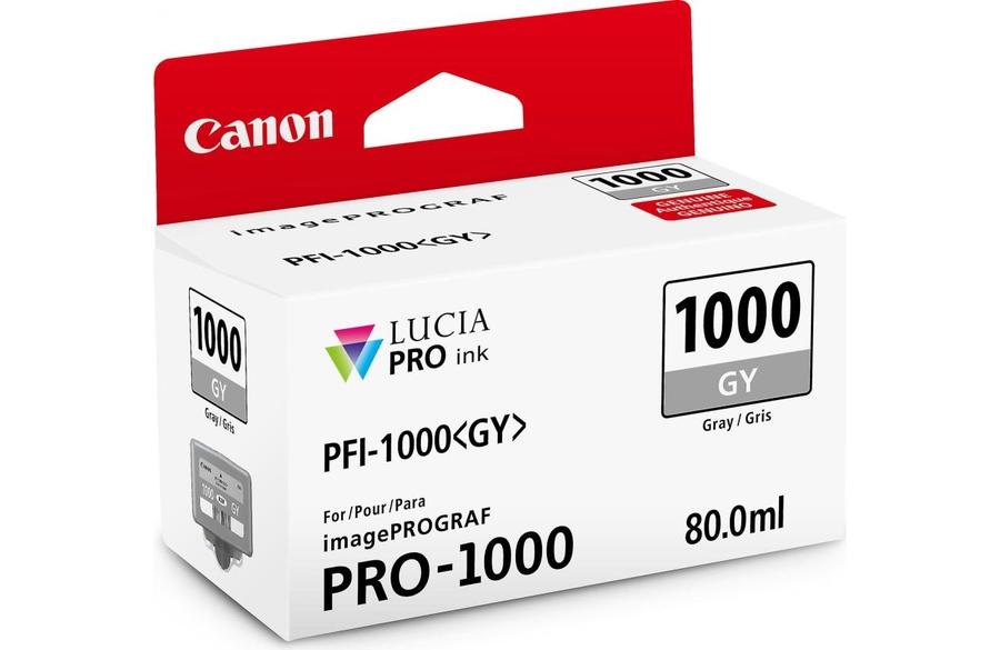 Canon PFI-1000 GY Grey Gri Orijinal Mürekkep Kartuş