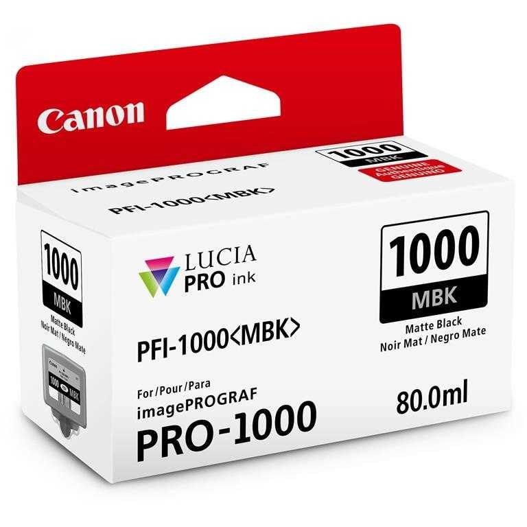 Canon PFI-1000 MBK Mat Black Mat Siyah Orijinal Mürekkep Kartuş
