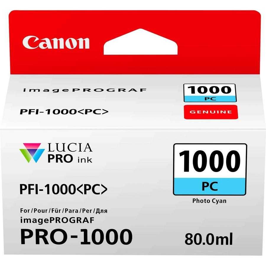 Canon PFI-1000 PC Photo Cyan Foto Mavi Orijinal Mürekkep Kartuş