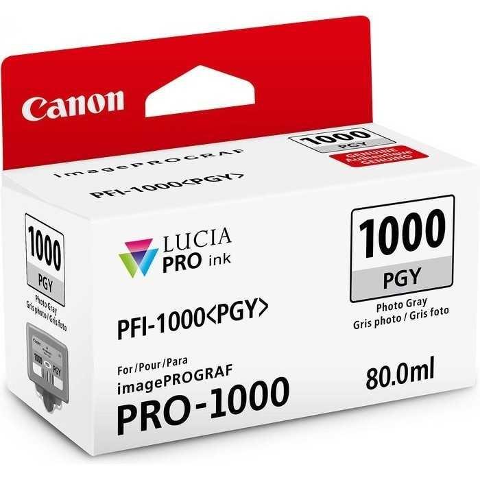 Canon PFI-1000 PGY Photo Grey Foto Gri Orijinal Mürekkep Kartuş
