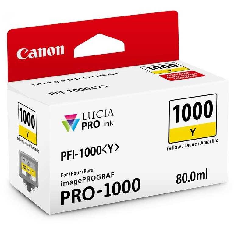 Canon PFI-1000 Y Yellow Sarı Orijinal Mürekkep Kartuş
