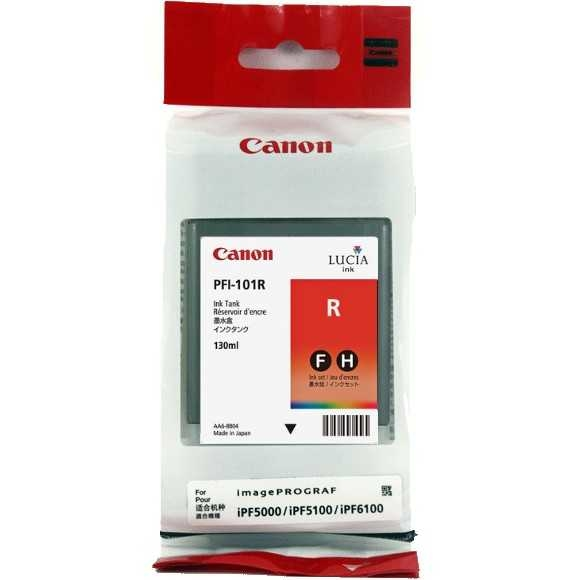 Canon PFI-101 R Red Kırmızı Orijinal Mürekkep Kartuş