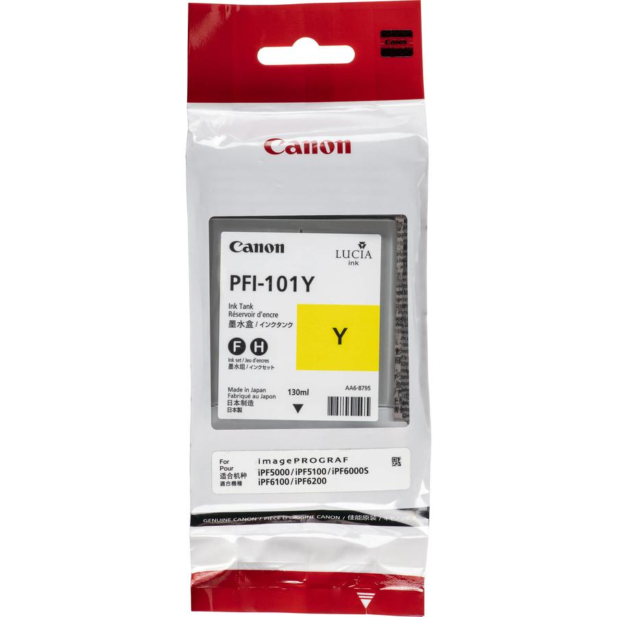 Canon PFI-101 Y Yellow Sarı Orijinal Mürekkep Kartuş