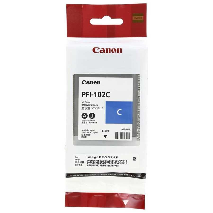 Canon PFI-102 C Cyan Mavi Orijinal Mürekkep Kartuş
