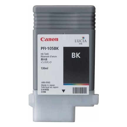 Canon PFI-105 BK Black Siyah Orijinal Mürekkep Kartuş