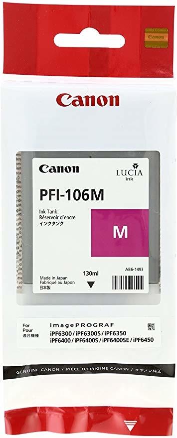 Canon PFI-106 M Magenta Kırmızı Orijinal Mürekkep Kartuş