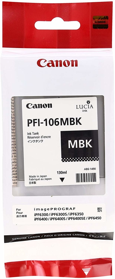 Canon PFI-106 MBK Mat Black Mat Siyah Orijinal Mürekkep Kartuş