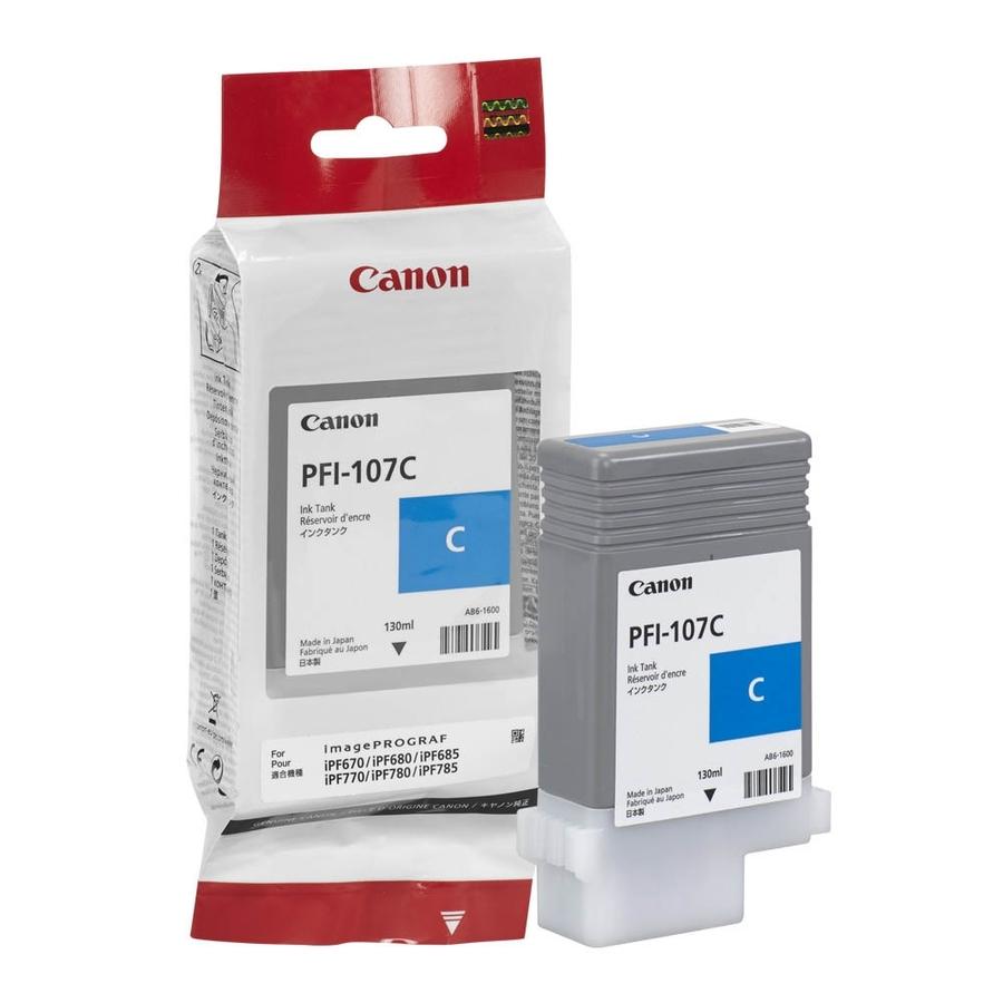 Canon PFI-107 C Cyan Mavi Orijinal Mürekkep Kartuş
