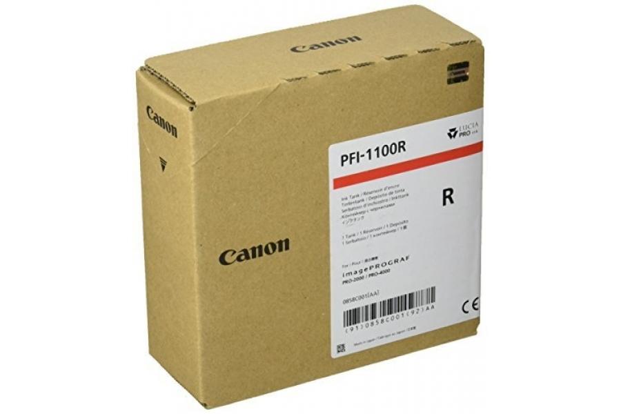 Canon PFI-1100 R Red Kırmızı Orijinal Mürekkep Kartuş