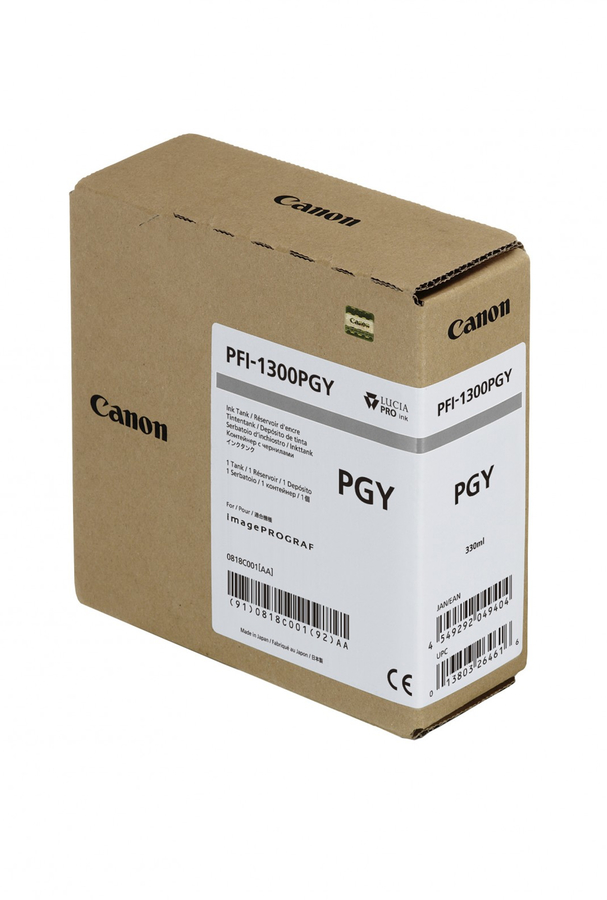 Canon PFI-1300 PGY Photo Grey Foto Gri Orijinal Mürekkep Kartuş