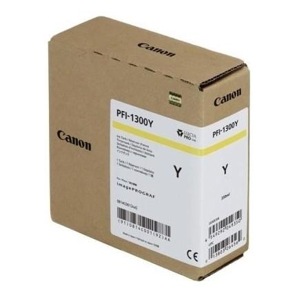 Canon PFI-1300 Y Yellow Sarı Orijinal Mürekkep Kartuş