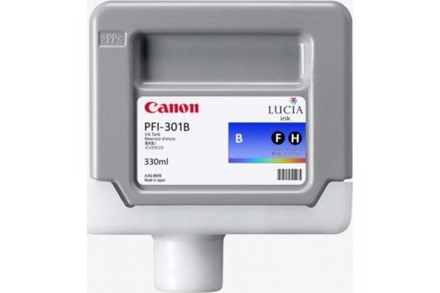 Canon PFI-301 B Blue Gökmavi Orijinal Mürekkep Kartuş
