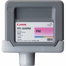 Canon PFI-304 PM Photo Magenta Foto Kırmızı Orijinal Mürekkep Kartuş