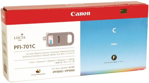 Canon PFI-701 C Cyan Mavi Orijinal Mürekkep Kartuş