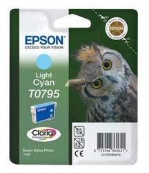 EPSON - Epson T0795 Light Cyan Açık Mavi Orijinal Mürekkep Kartuş