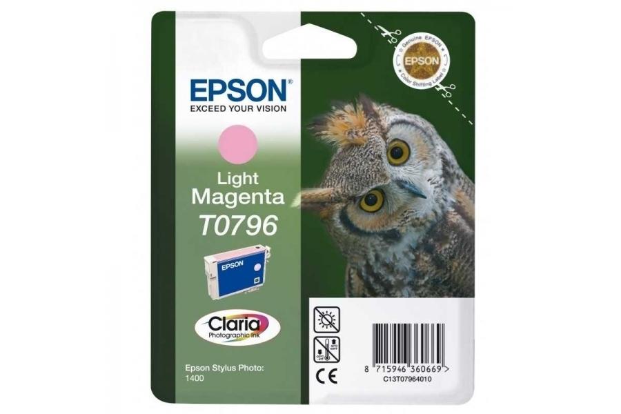 Epson T0796 Light Magenta Açık Kırmızı Orijinal Mürekkep Kartuş