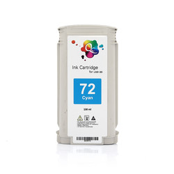 HP - HP 72 C9371A Cyan Mavi Muadil Mürekkep Kartuş 130ml