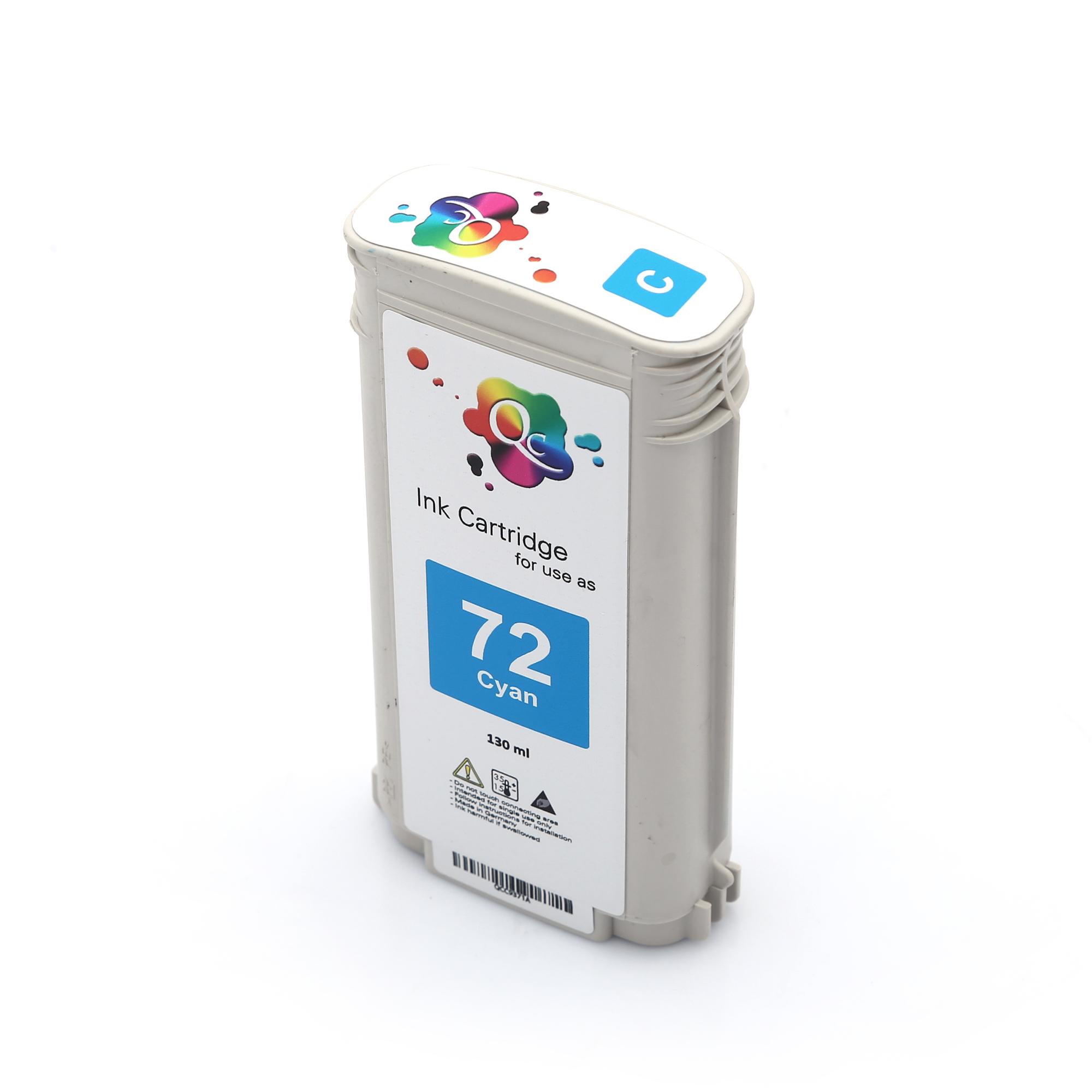 HP 72 C9371A Cyan Mavi Muadil Mürekkep Kartuş 130ml