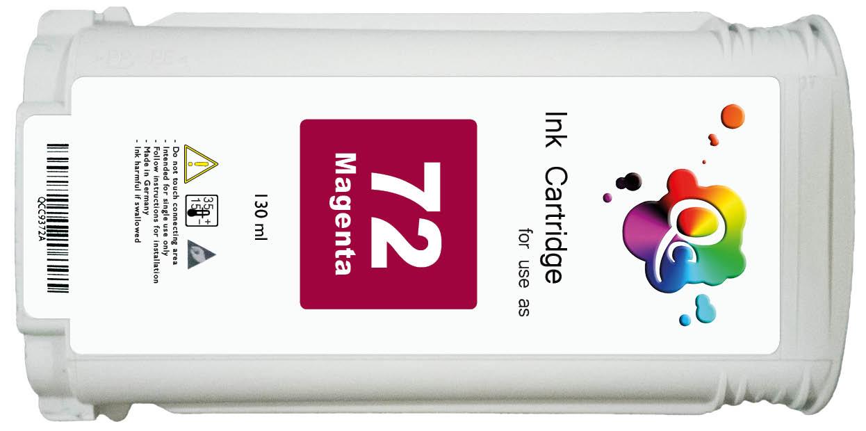 HP 72 C9372A Magenta Kırmızı Muadil Mürekkep Kartuş 130ml