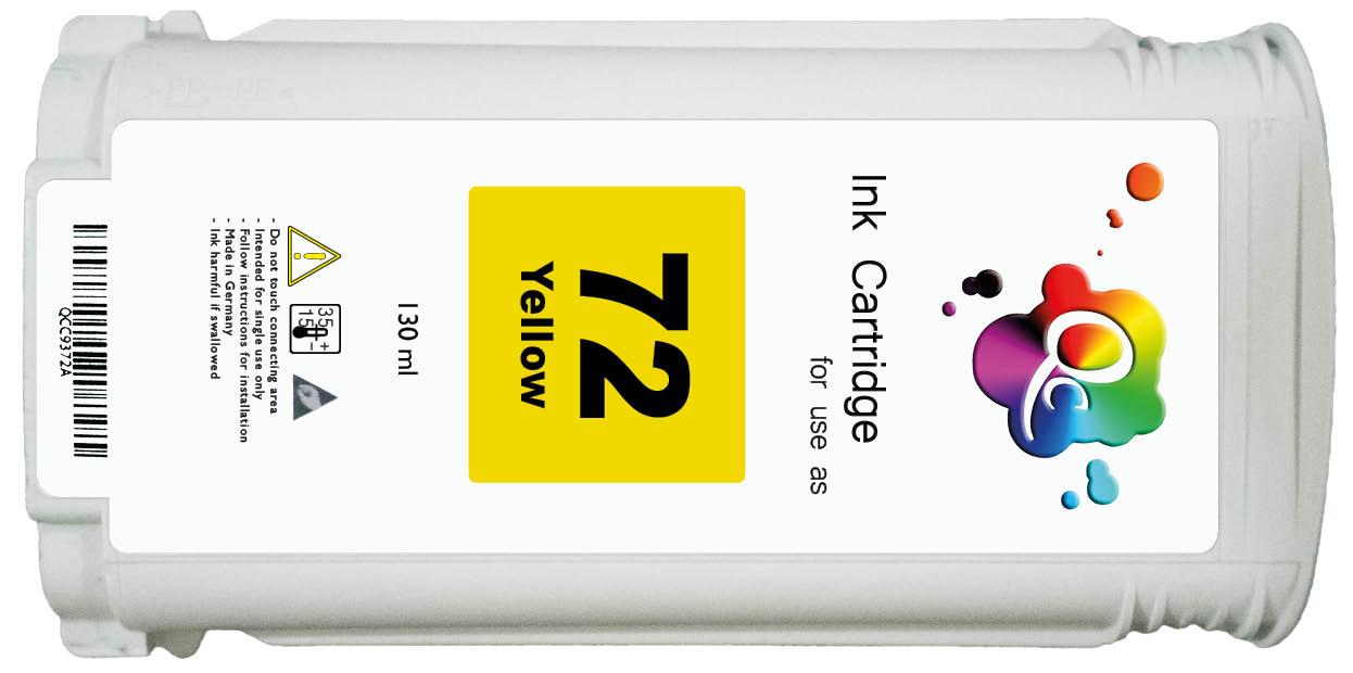 HP 72 C9373A Yellow Sarı Muadil Mürekkep Kartuş 130ml