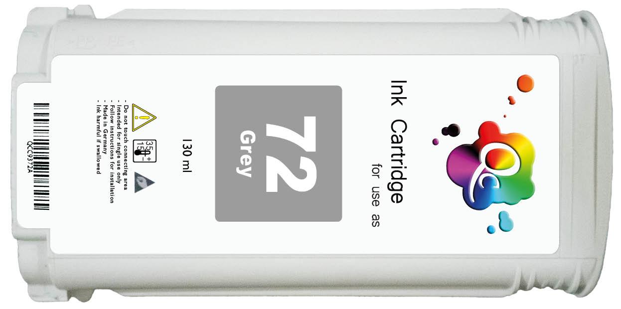 HP 72 C9374A Grey Gri Muadil Mürekkep Kartuş 130ml