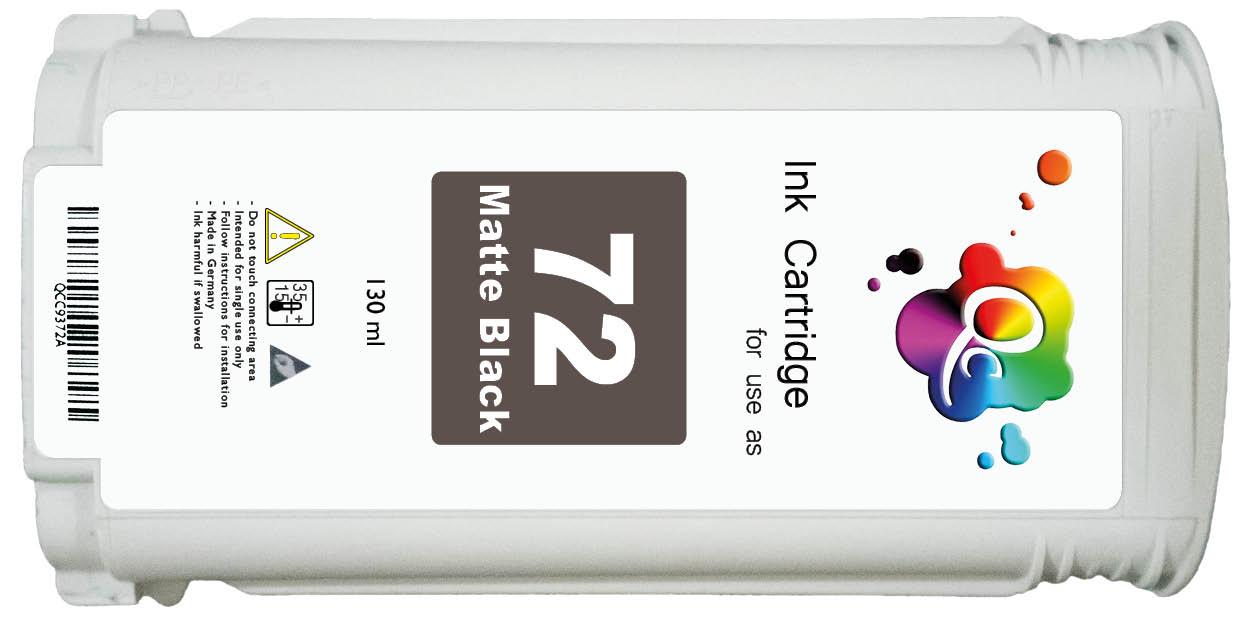HP 72 C9403A Matte Black Mat Siyah Muadil Mürekkep Kartuş 130ml