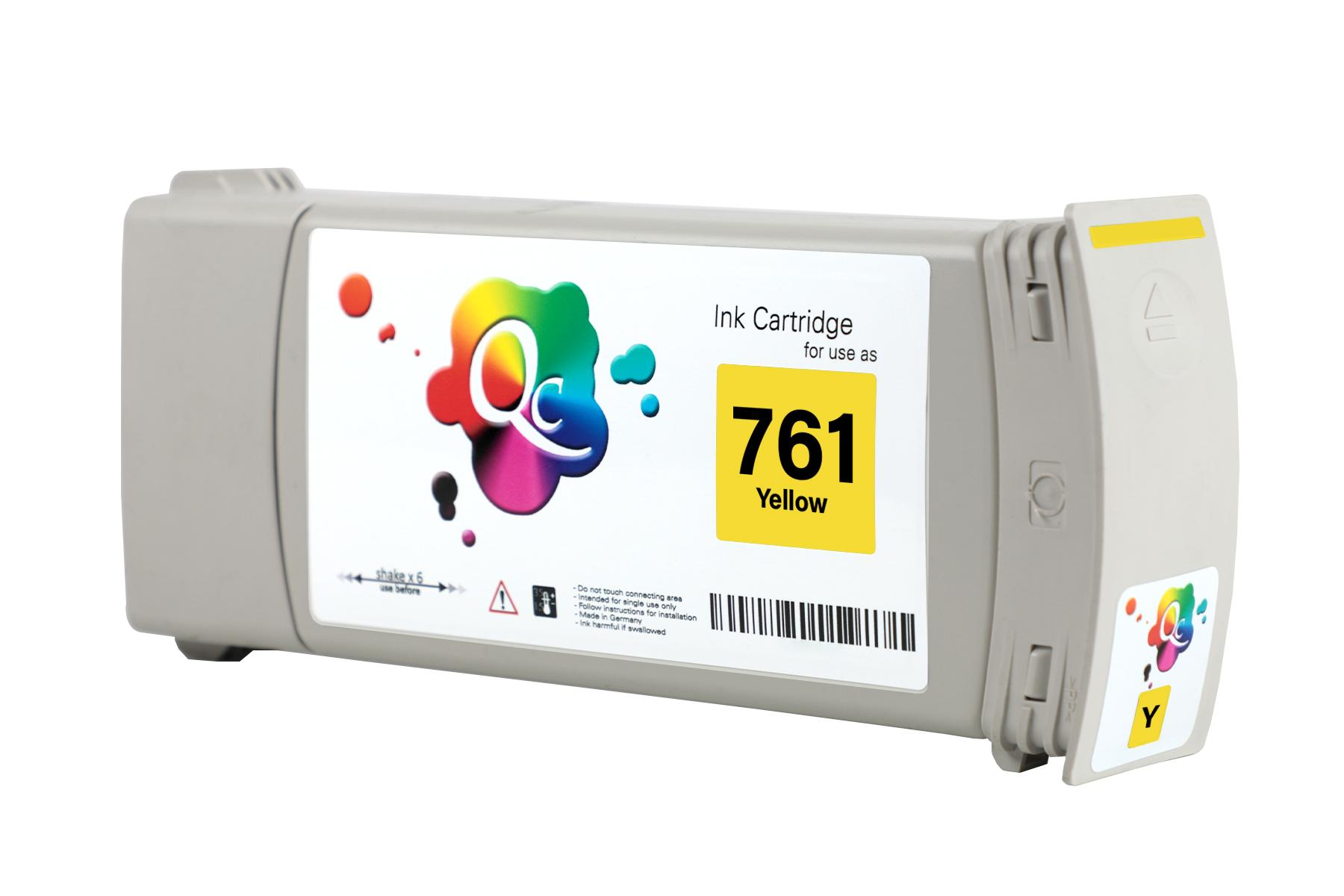 HP 761 CM992A Yellow Sarı Muadil Mürekkep Kartuş 400ml