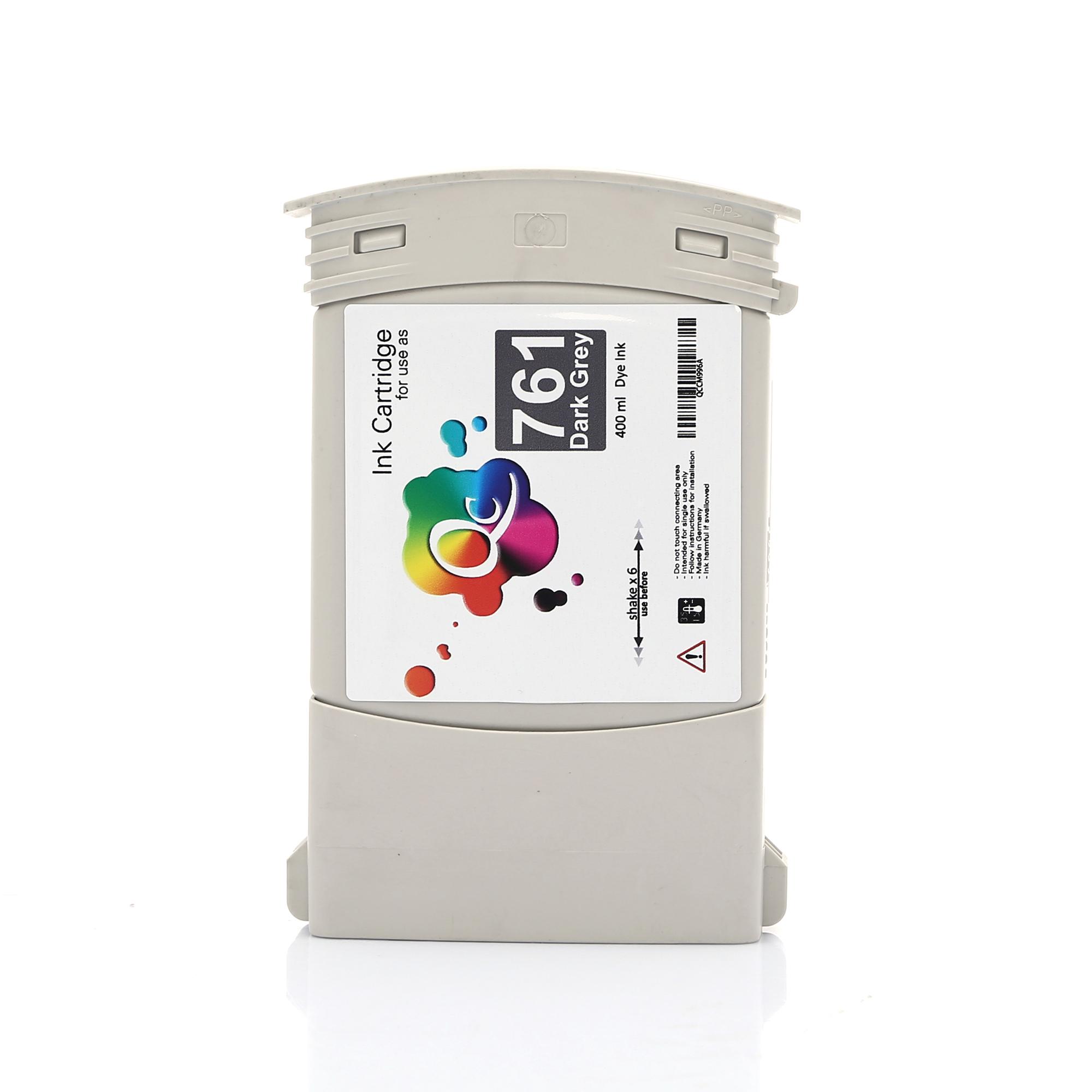 HP 761 CM996A Dark Grey Koyu Gri Muadil Mürekkep Kartuş 400 ml