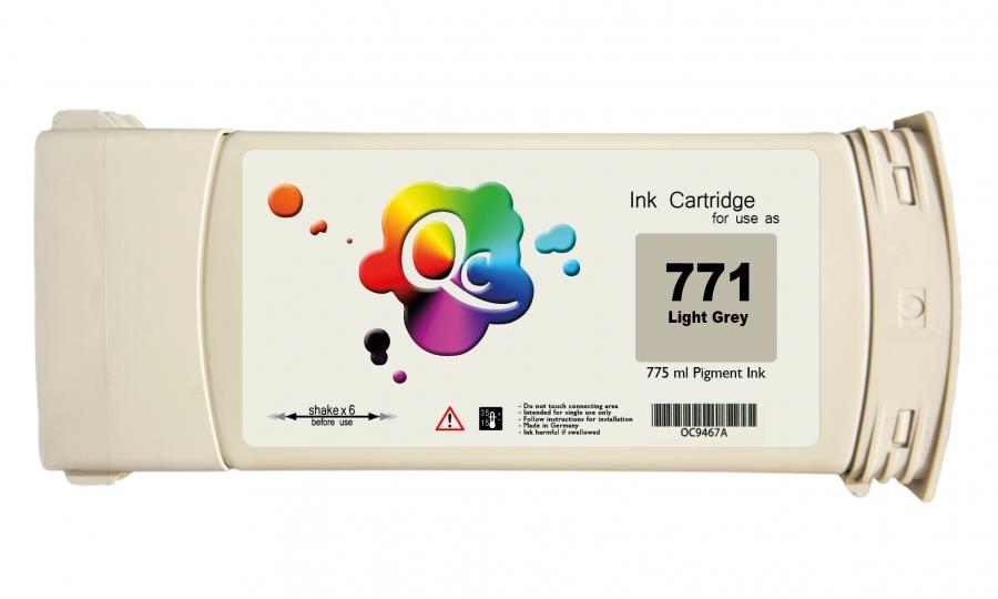 HP 771 CE044A Light Gray Açık Gri Plotter Pigment Muadil Mürekkep Kartuş 775ml