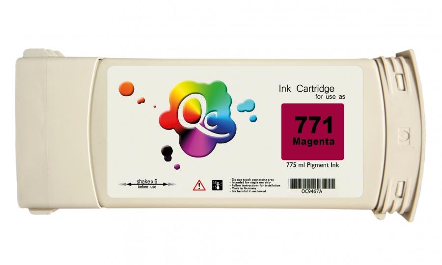 HP 771 CE039A Magenta Kırmızı Plotter Pigment Muadil Mürekkep Kartuş 775ml