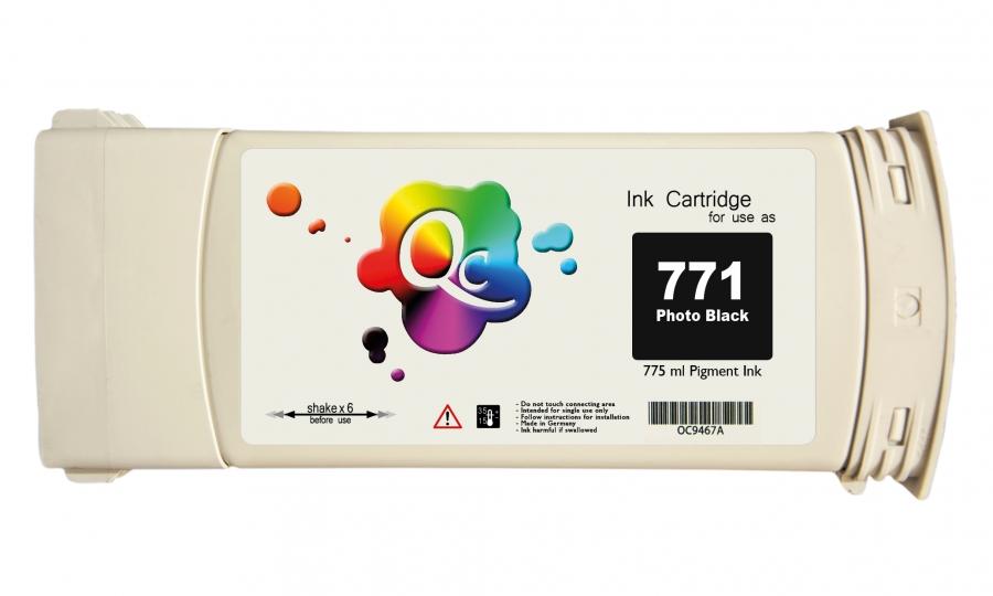 HP 771 CE043A Photo Black Foto Siyah Plotter Pigment Muadil Mürekkep Kartuş 775ml