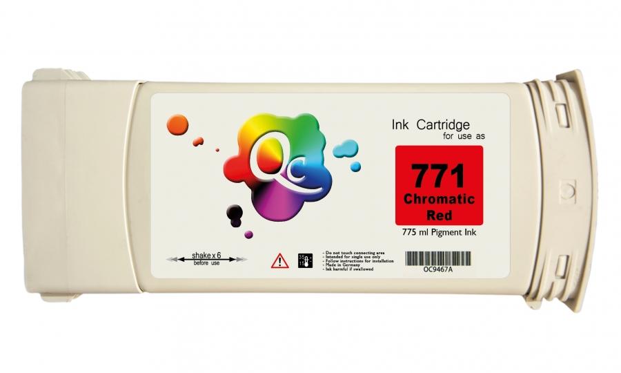 HP 771 CE038A Red Kırmızı Plotter Pigment Muadil Mürekkep Kartuş 775ml