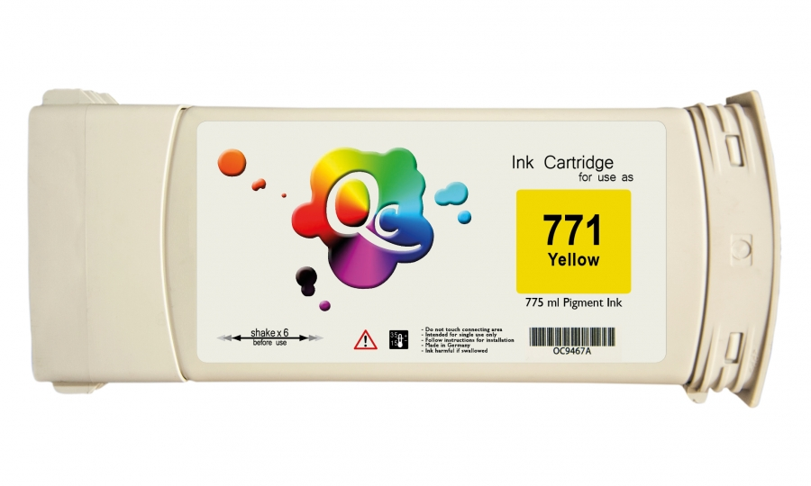 HP 771 CE040A Yellow Sarı Plotter Pigment Muadil Kartuş 775ml