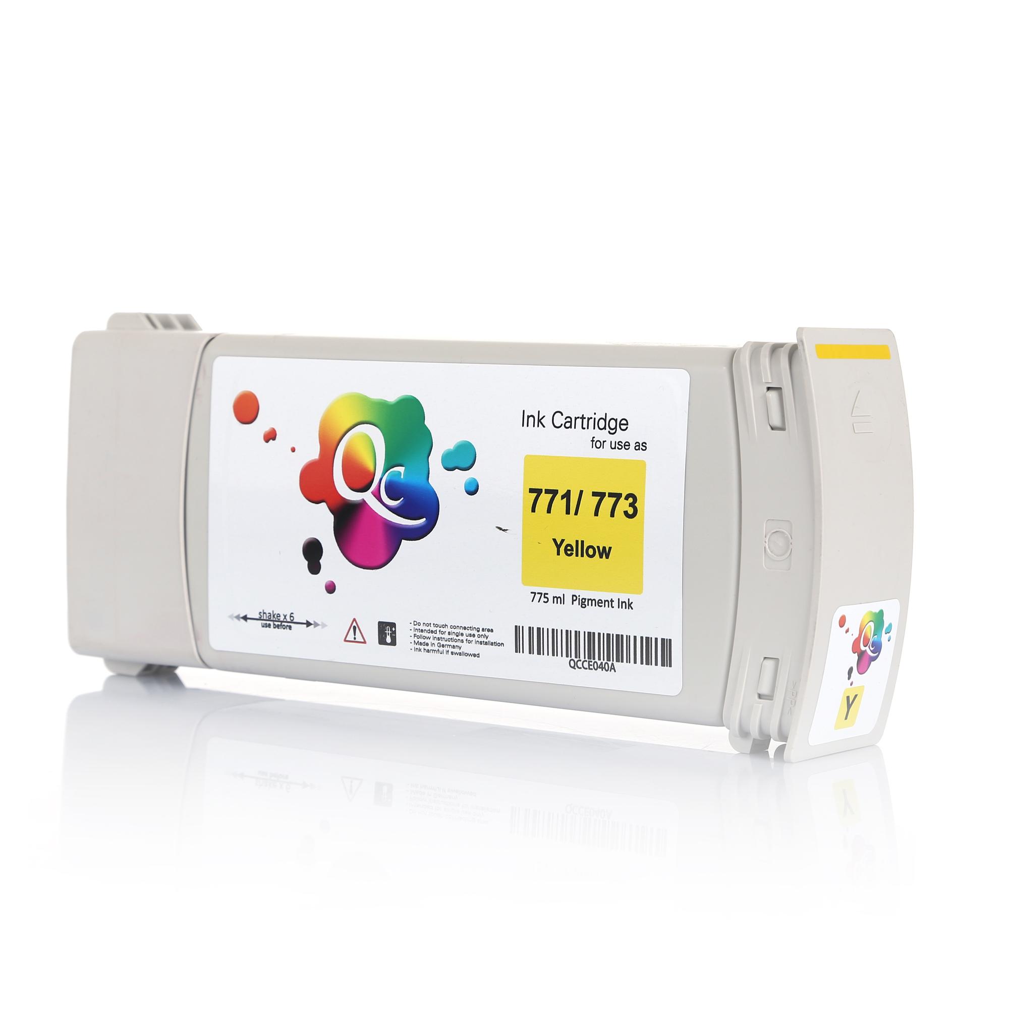 HP 773 C1Q40A Yellow Sarı Muadil Mürekkep Kartuş 775ml