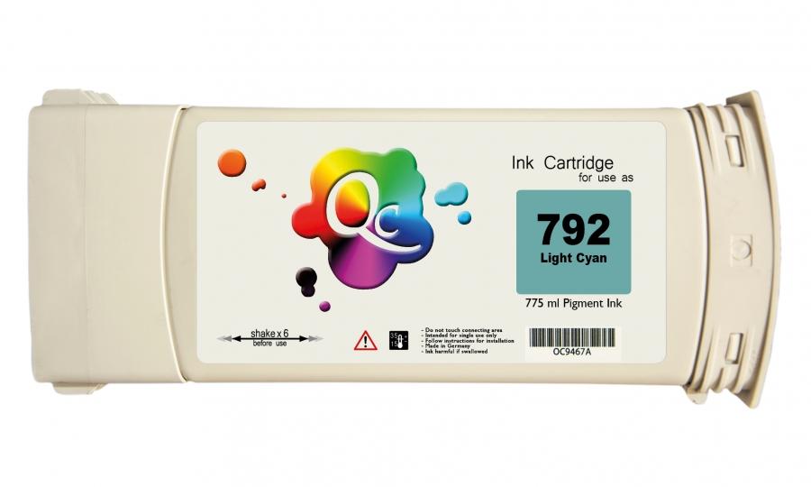 HP 792 CN709A Light Cyan Açık Mavi Muadil Mürekkep Kartuş 775ml